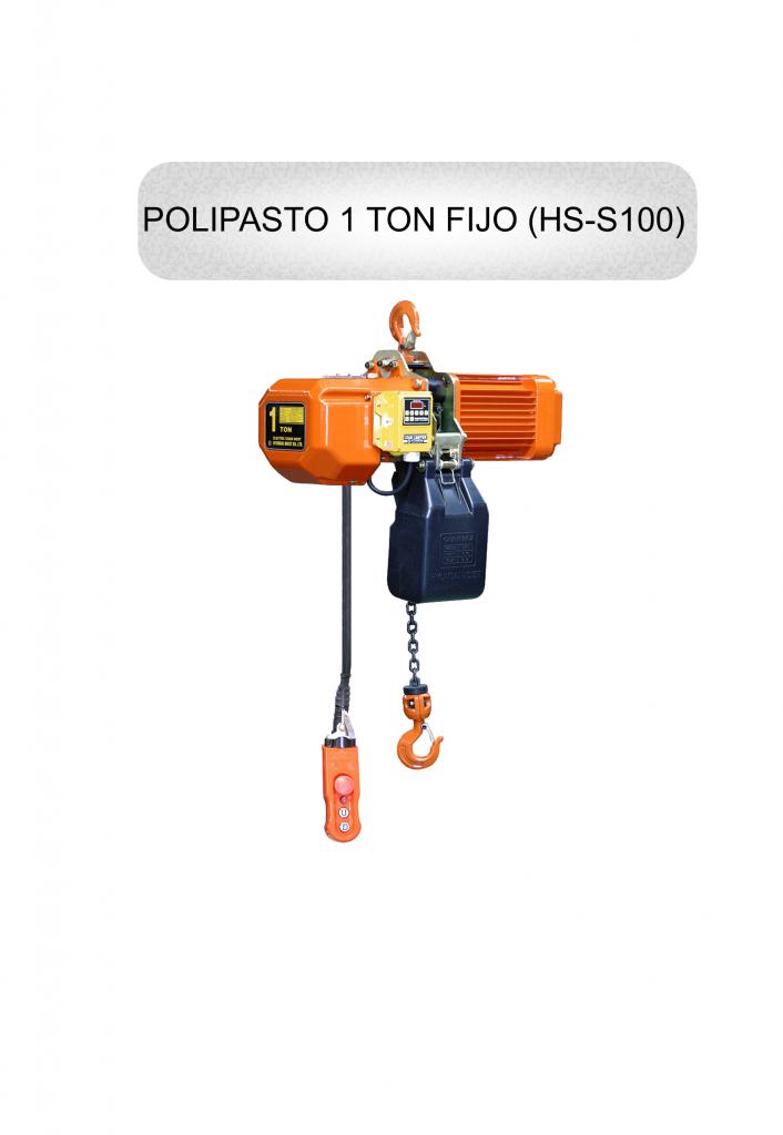 polipasto 1 ton fijo hyundai hs s100 polipastos