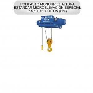 POLIPASTO MONORRIEL ALTURA ESTANDAR MICROELEVACION ESPECIAL
